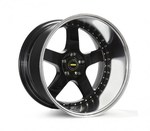 20x12 Simmons FR-1 Flow Form Gloss Black - Simmons Wheels