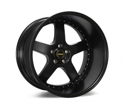 20x12 Simmons FR-1 Flow Form Satin Black - Simmons Wheels