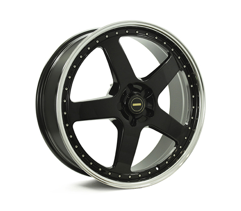 22x8.5 22x9.5 Simmons FR-1 Gloss Black Mirror Lip