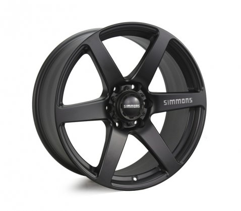 20x9.0 Simmons S6 Matte Black 6/139.7 P35 - Simmons Wheels