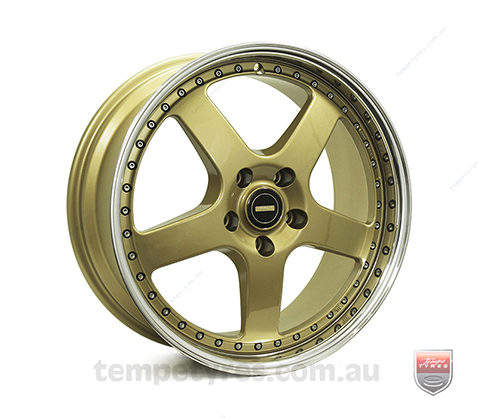 19x7.0 19x8.5 Simmons FR-1 Gold - Simmons Wheels