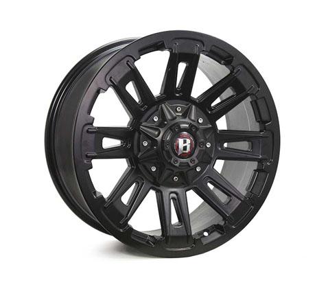 20x9.0 Ballistic Ravage Flat Black - Ballistic Wheels