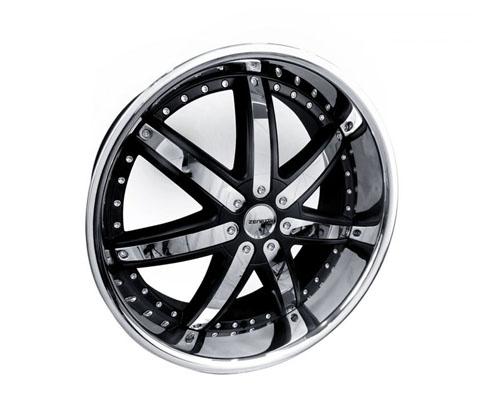 24x10 Zenetti 1477 Black - Zenetti Wheels