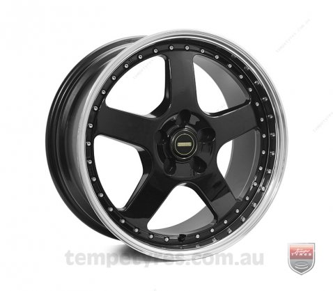 18x8.5 18x9.5 Simmons FR-1 Gloss Black - Simmons Wheels
