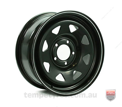 16x8.0 Gecko Steel Black