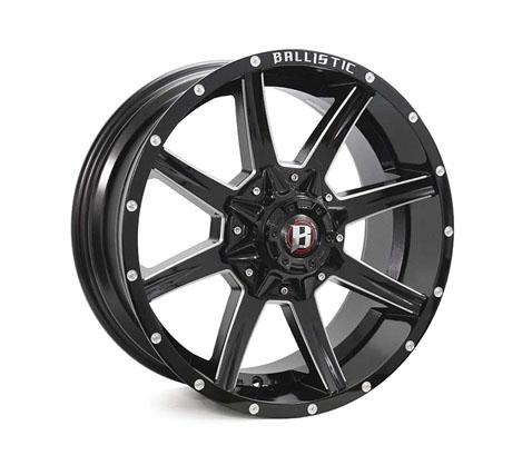 20x9.0 Ballistic Razorback Millworks - Ballistic Wheels
