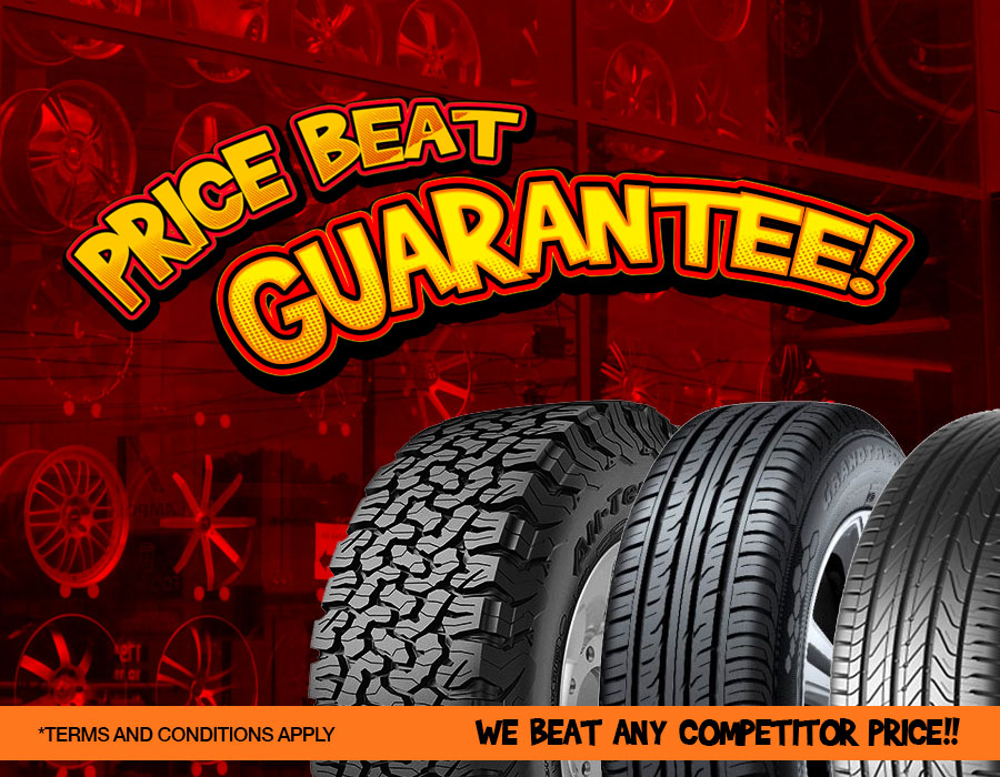 Tempe Tyres offering Price Beat Guarantee.